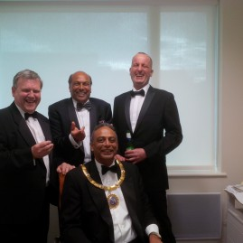 At Royal Pharmaceutical Society Fellows Dinner with the President of RPS Ash Soni.